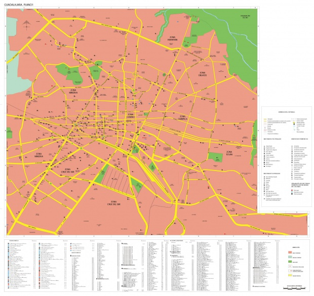 Mapa Guadalajara, Jalisco, Mexico