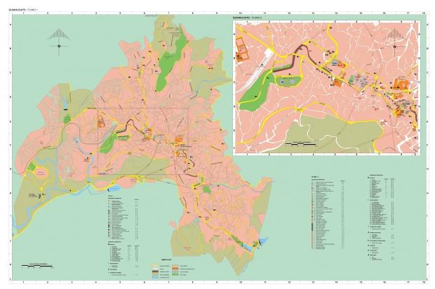 Mapa Guanajuato, Guanajuato, Mexico