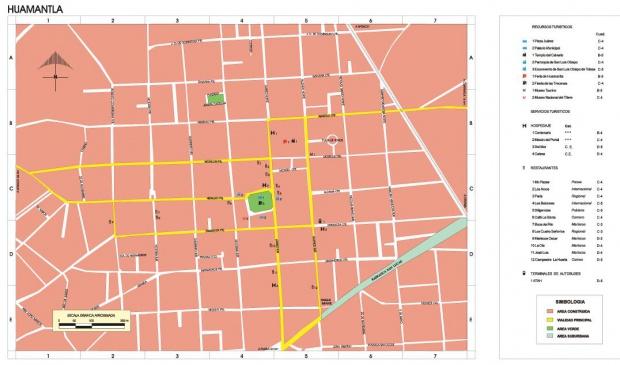Mapa Huamantla, Tlaxcala, Mexico