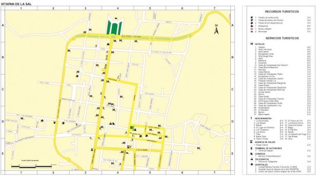 Mapa Ixtapan de la Sal, Edo Mexico