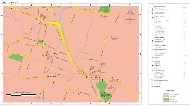 Mapa León (1), Guanajuato, Mexico