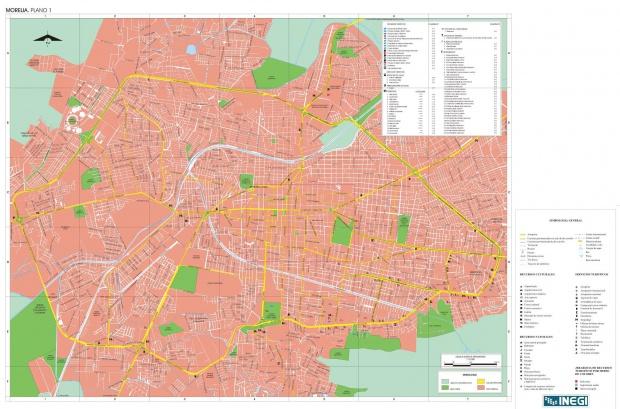 Mapa Morelia, Michoacán de Ocampo, Mexico