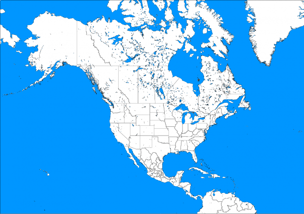 North America Political Blank Map