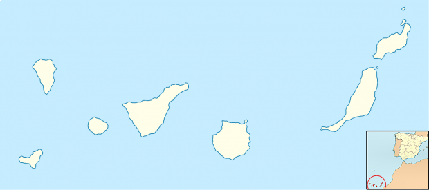 Canary Islands Outline Map