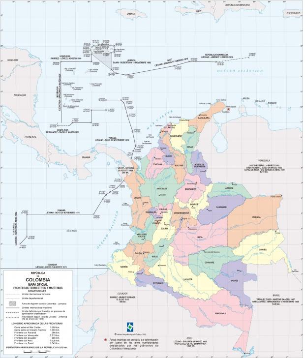 Mapa Oficial de Colombia