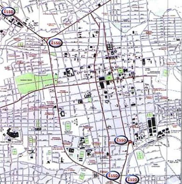 Mapa, Plano de la Ciudad de San Miguel, El Salvador