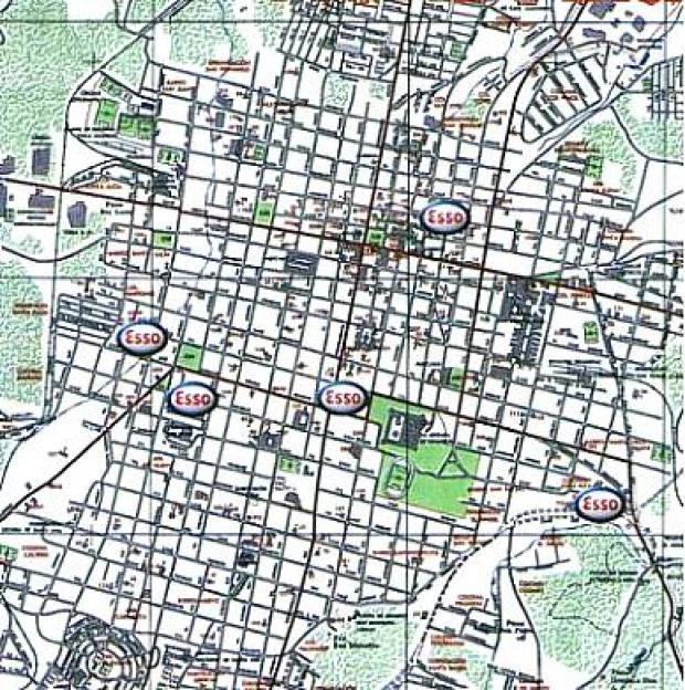 Mapa, Plano de la Ciudad de Santa Ana, El Salvador