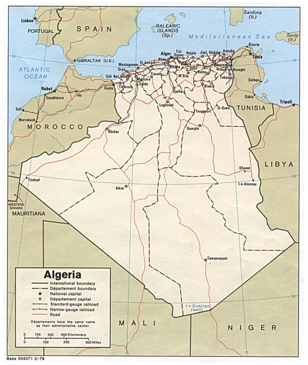 Mapa Politico de Argelia
