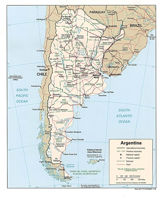 Argentina Political Map