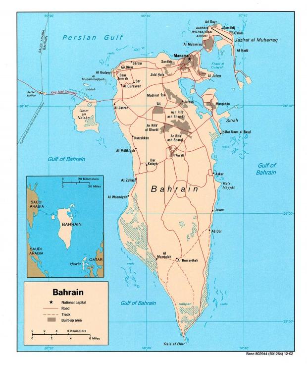 Mapa Politico de Bahréin