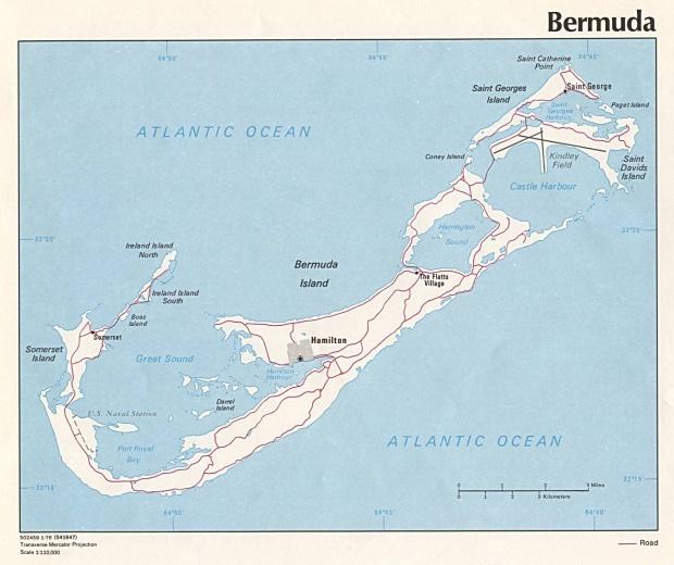 Mapa Político de Bermuda