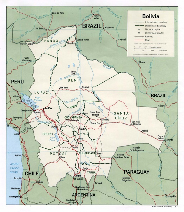 Mapa Político de Bolivia