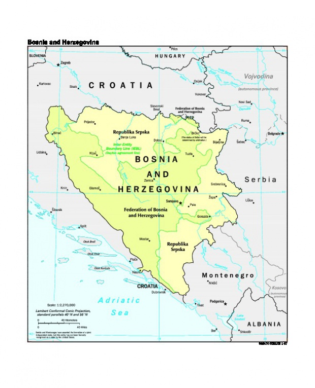 Mapa Politico de Bosnia y Herzegovina