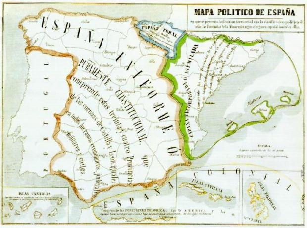 Mapa Político de España 1854