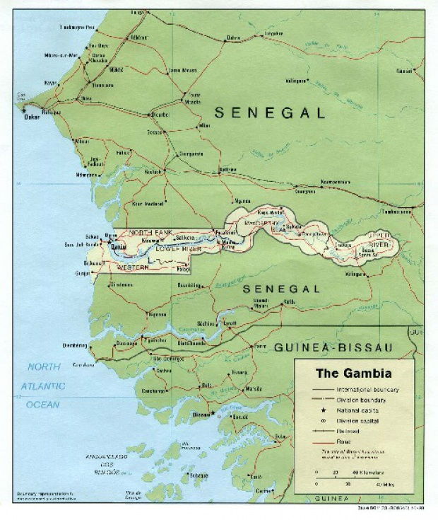 Gambia Political Map