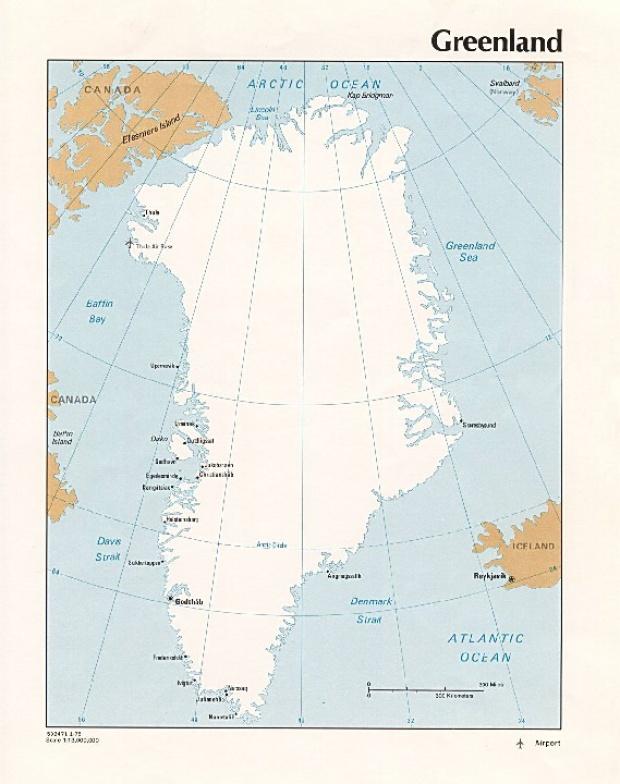 Mapa Politico de Groenlandia