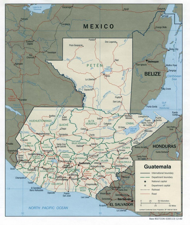 Guatemala Political Map