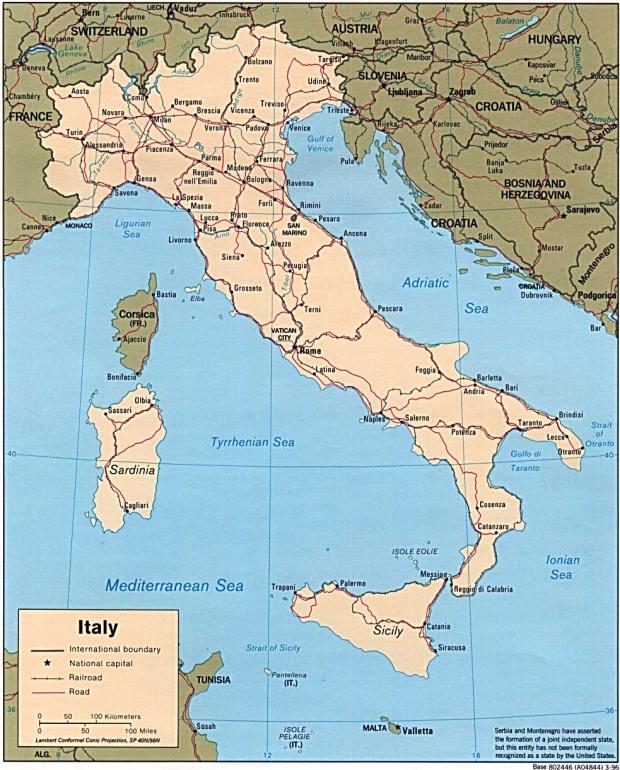 Mapa Politico de Italia