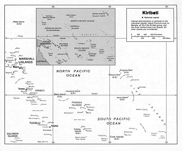 Mapa Politico de Kiribati