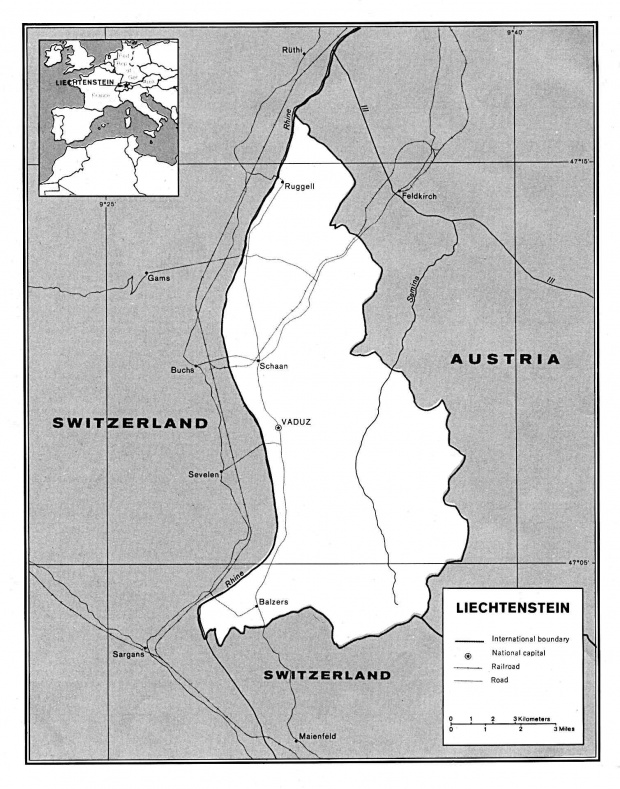 Mapa Politico de Liechtenstein