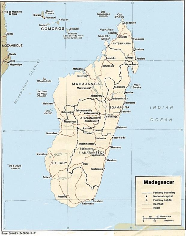 Mapa Politico de Madagascar