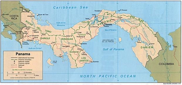 Mapa Político de Panamá