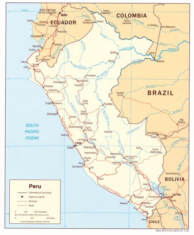 Peru Political Map