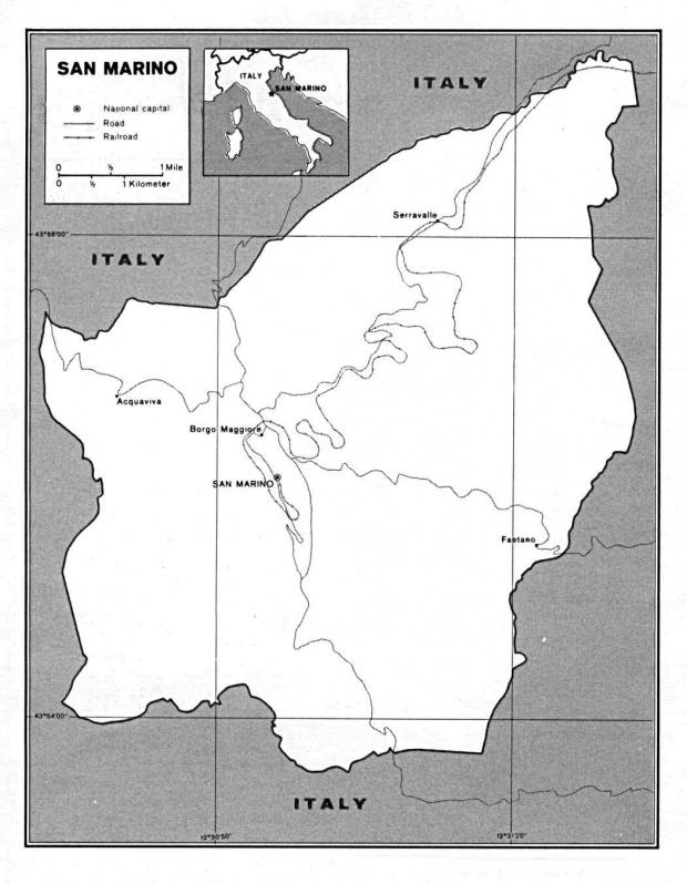 Mapa Politico de San Marino