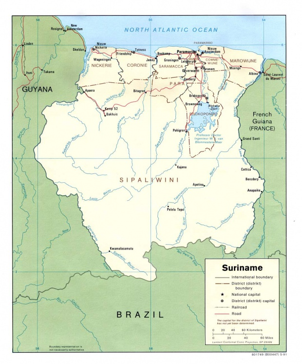 Suriname Political Map