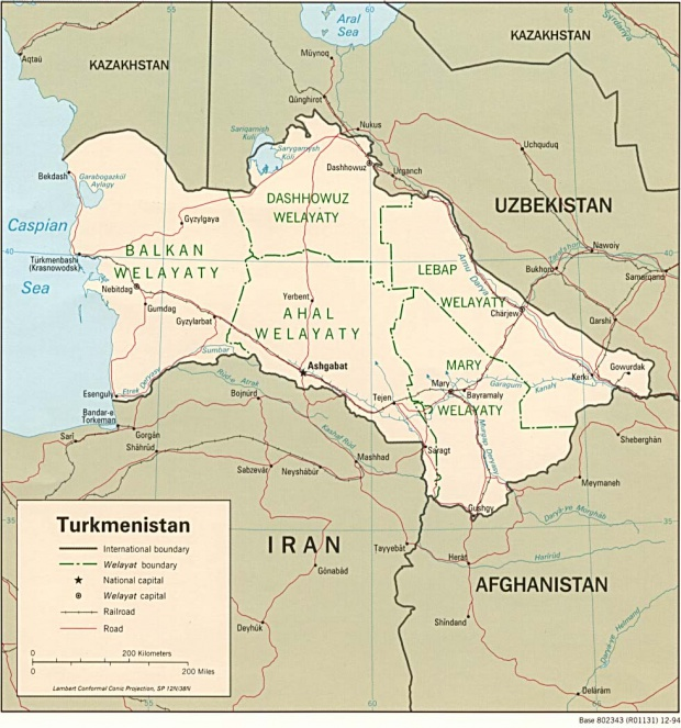 Turkmenistan Political Map