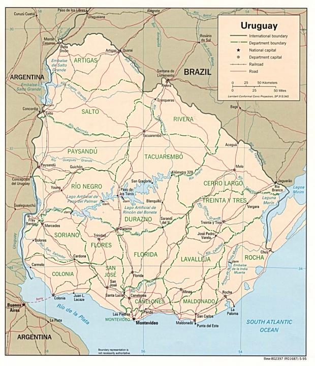 Uruguay Political Map