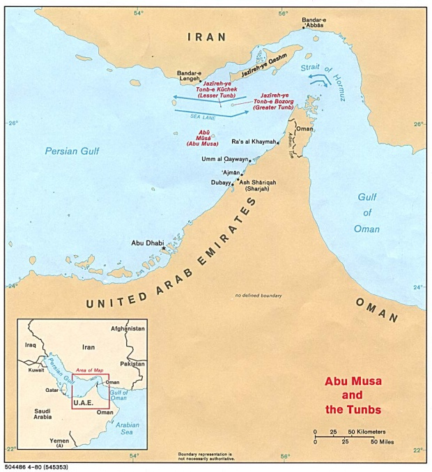Strait of Hormuz Political Map