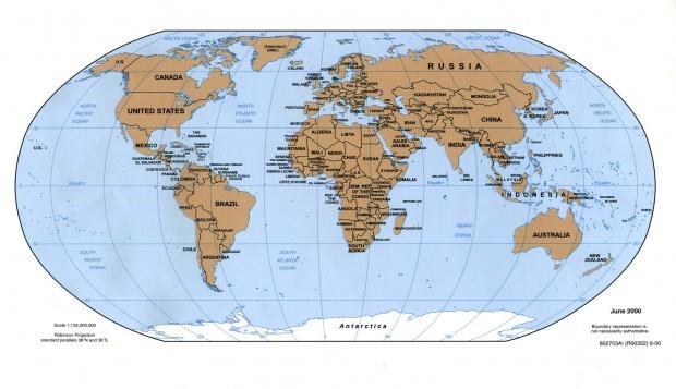 Mapa Politico del Mundo 2000