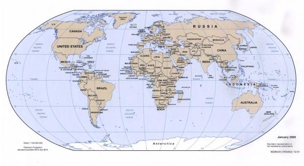 Mapa Politico del Mundo 2002