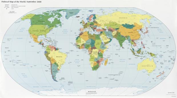 Mapa Politico del Mundo 2008