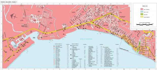 Mapa Puerto Vallarta, Jalisco, Mexico