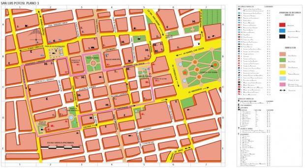 Mapa San Luis Potosí (Centro), San Luis Potosí, Mexico