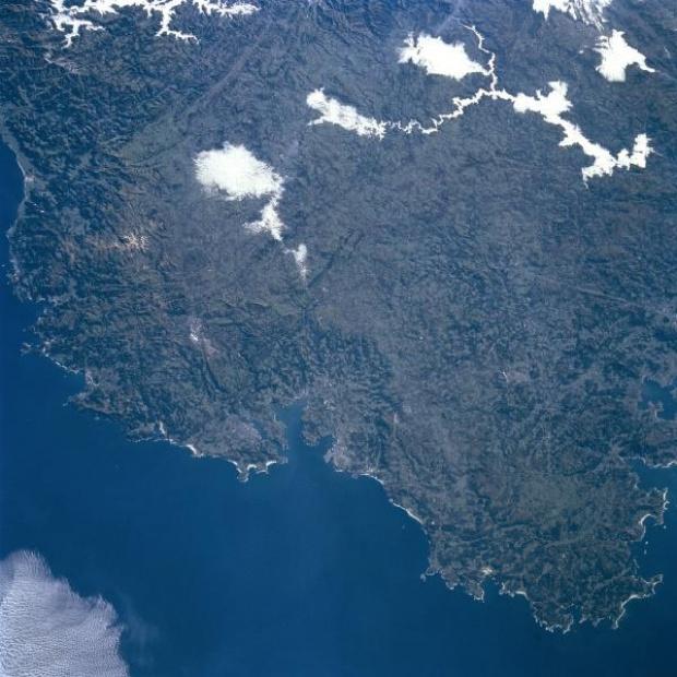 Mapa Satelital del Area y Ciudad de A Coruña, España