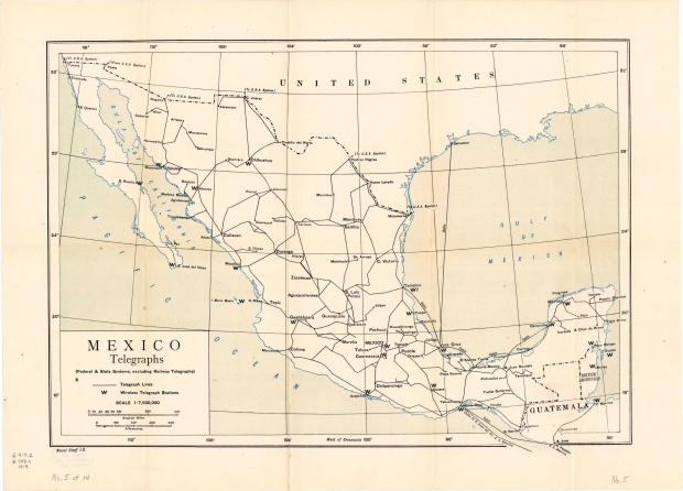Telegraphs Map, Mexico