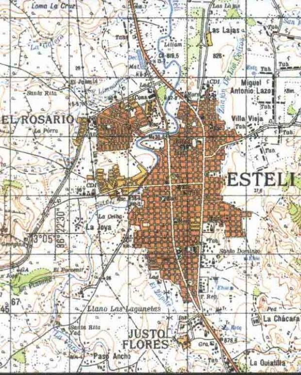 Mapa Topográfico de Esteli, Nicaragua