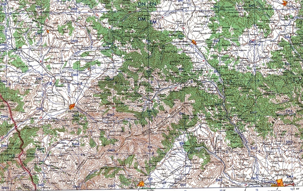 Southern Kosovo Topographic Map 1959