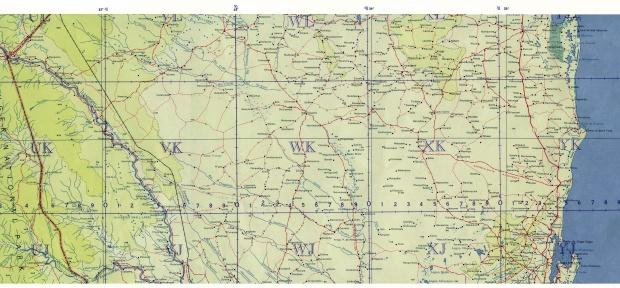 Mapa Topográfico de Mozambique Meridional 1958