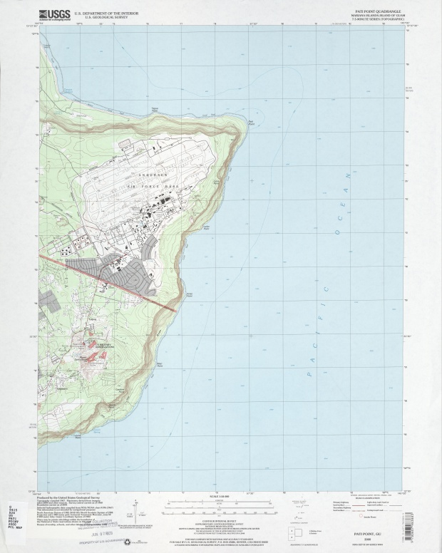 Andersen Air Force Base Topographic Map