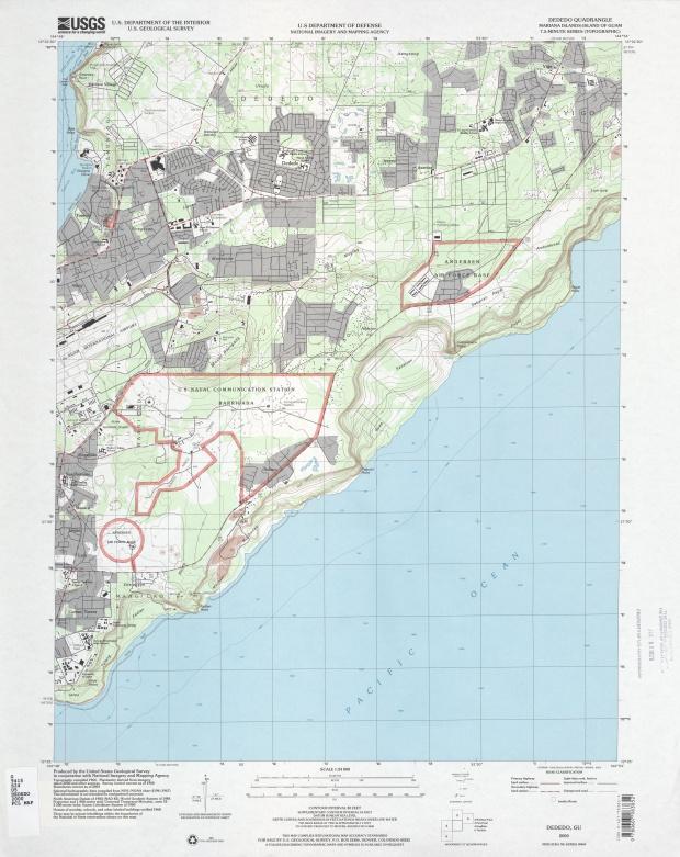 Mapa Topográfico de la Región de Dededo