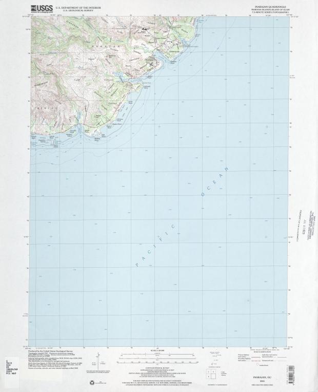 Mapa Topográfico de la Región de Inarajan