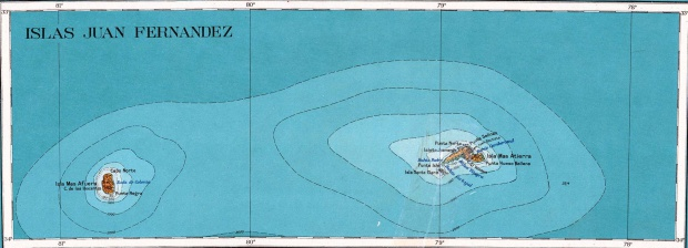 Juan Fernandez Islands Topographic Map 1927
