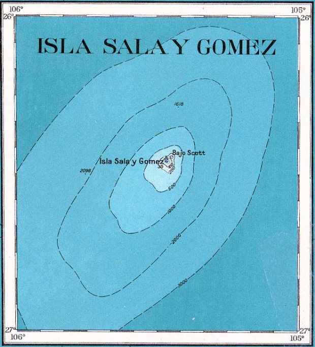 Sala y Gomez Islands Topographic Map 1927