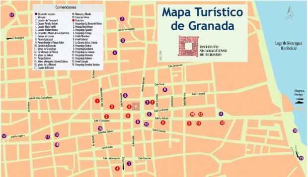 Mapa Turístico de Granada, Nicaragua