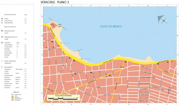 Mapa Veracruz (Centro 2), Veracruz-Llave, Mexico