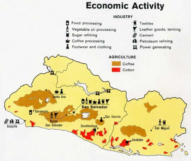 Mapa de Actividad Económica de El Salvador